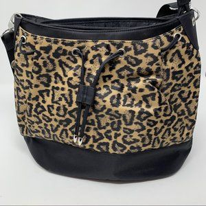 Travelon Animal Print Crossbody Drawstring Purse